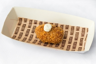 Melosa: Croqueta bacon queso